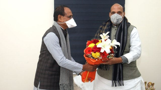 CM Chouhan calls on Union Defence Minister Rajnath Singh