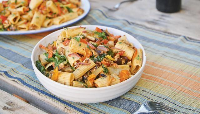 Roasted Veggies With Pasta