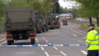 Delicate operation  at UK World War 2 bomb site