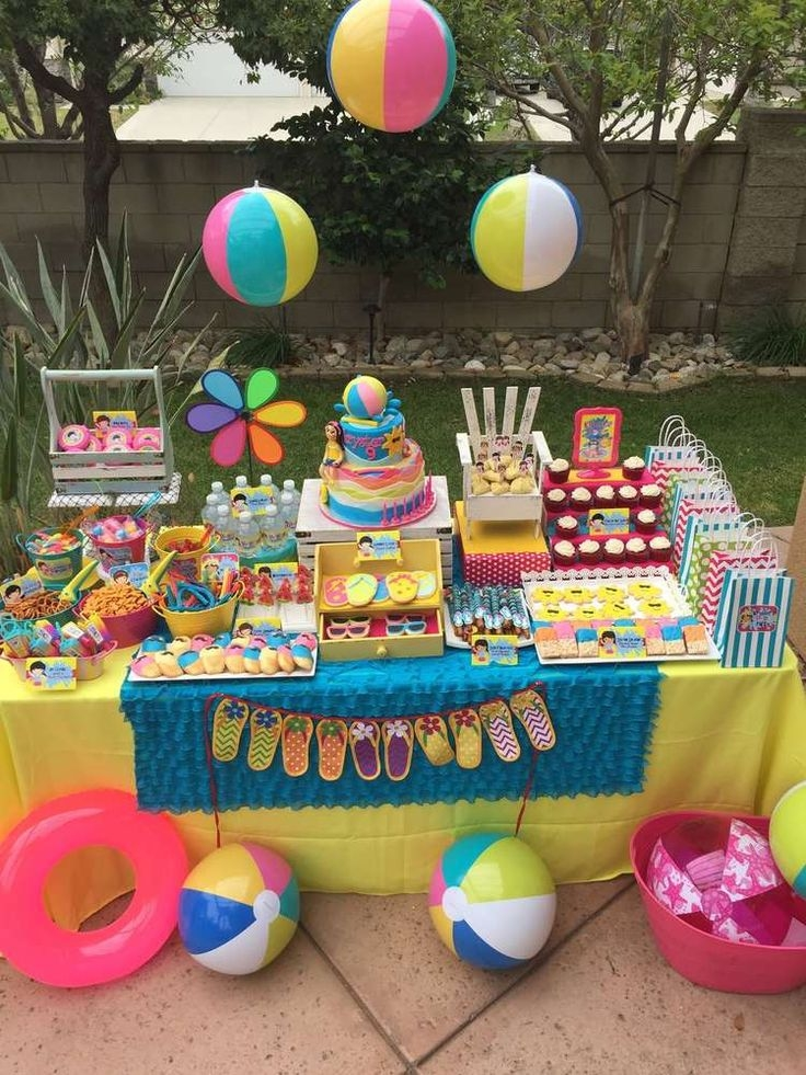 Decor trends for kids  birthday parties in summer