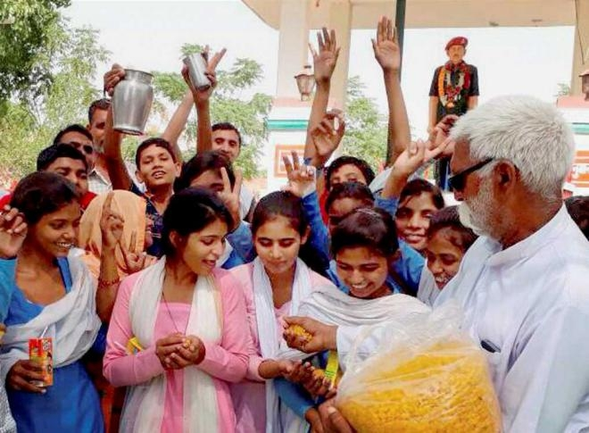 Haryana gives in to girl students  protest, upgrades school (Lead)