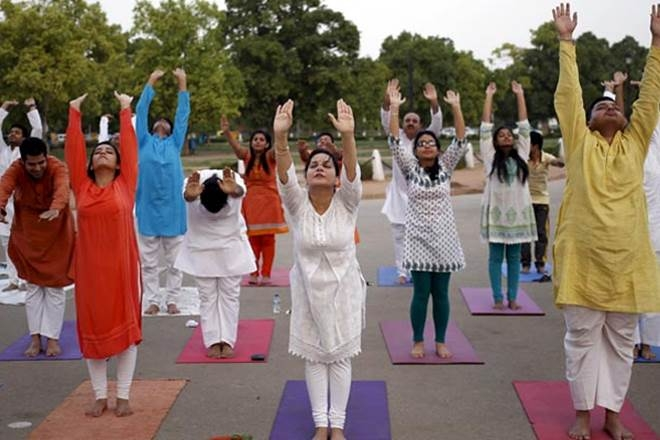 Amendment in charge of districts of ministers for World Yoga Day programme
