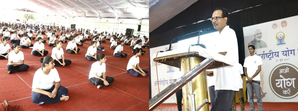 Yoga is Must for Good Learning -CM Chouhan