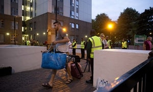 Chaos as hundreds forced to evacuate from London tower blocks
