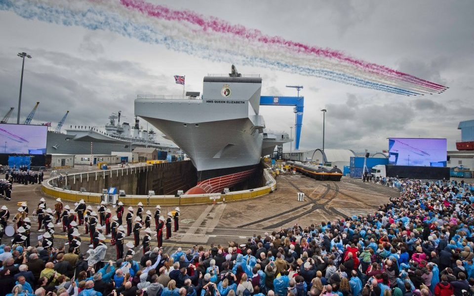 Britain s largest-ever warship sets sail