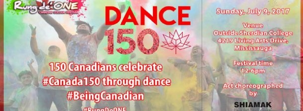 150 dancers and dholis to pay tribute to Canada 150