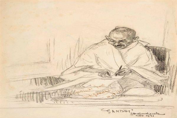 Indian  vaccine billionaire  buys Gandhi s rare portrait and letters