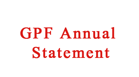 Details of GPF Annual Accounts Uploaded on Website