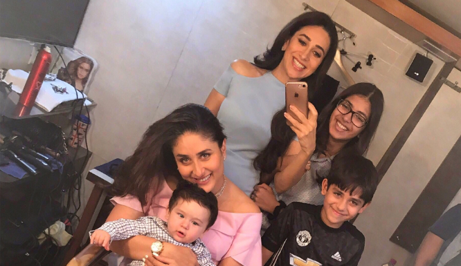 It's not all work however some fun with kiddo - Karishma Kapoor !