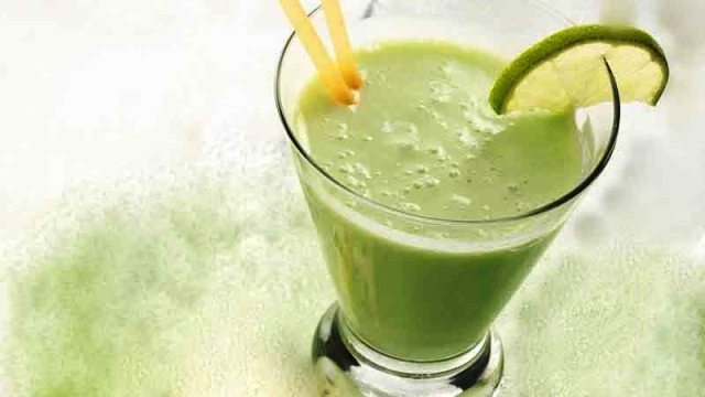 Lime-Banana with Milk Smoothie