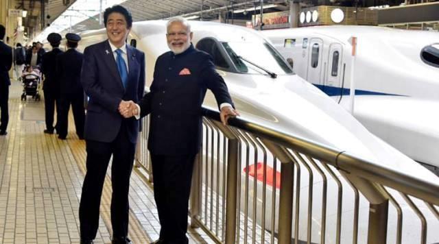 The Prime Minister, Shri Narendra Modi and the Prime Minister of Japan, Mr. Shinzo Abe at Tokyo