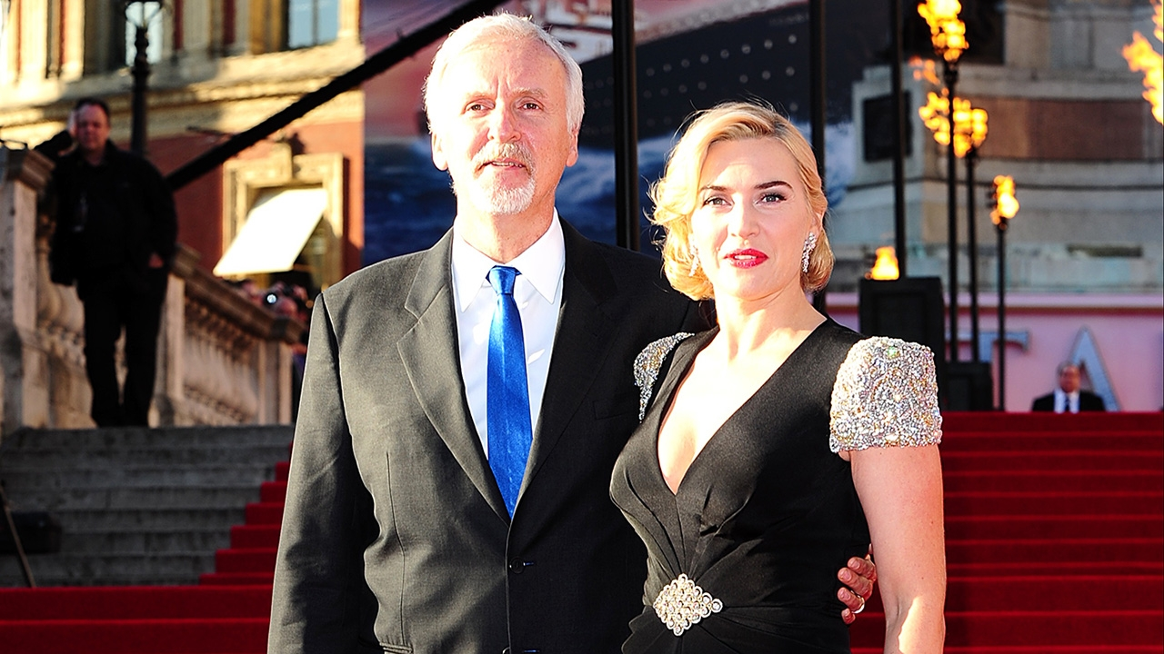 Actress Kate Winslet and Director James Cameron