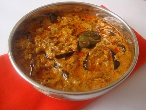 Eggplant Poppy Seeds Curry