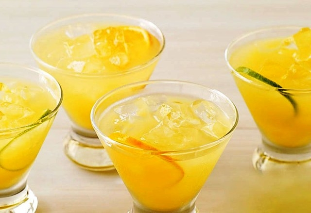 Lemon and Orange Champagne Punch