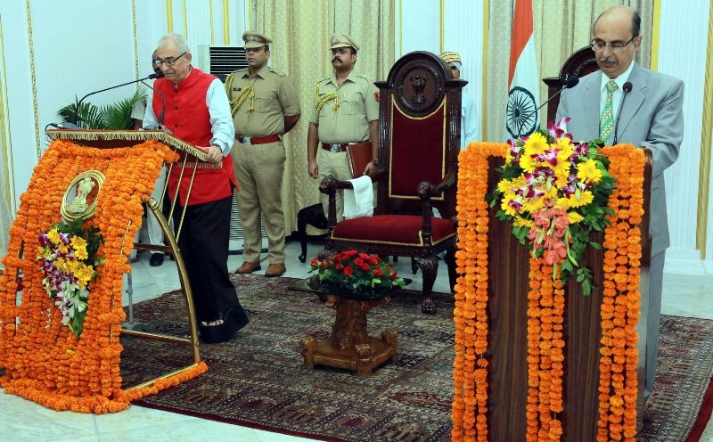 Governor Kohli Aministers Oath to Newly Appointed Lokayukt Justice Gupta