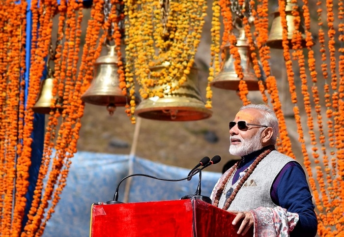 PM Narendra Modi prayed at the Kedarnath Temple and addressed a gathering.